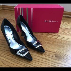 BCBGIRLS Black Patent Leather Pumps Size 5.5